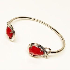 Kendra Scott • Andy Cuff Bracelet in Red & Silver